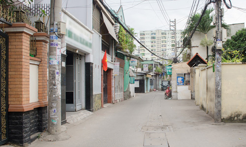 nhà phố lẻ Sài Gòn