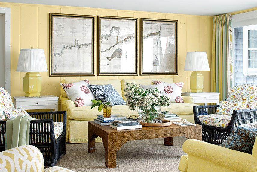 Màu sắc khung tranh phong thủy cho phòng khách cũng cần chọn cho phù hợp