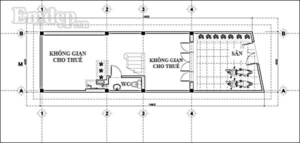 mẫu nhà 4 tầng