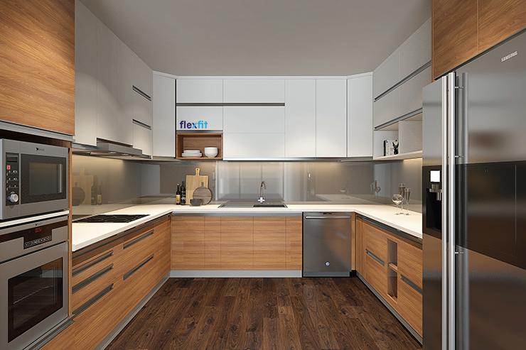 Thiết kế tủ bếp 3 trong 1 đa năng và tiện dụng