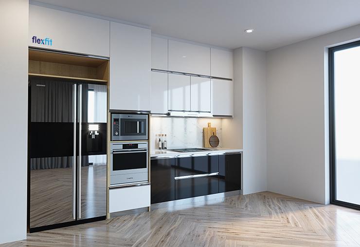 tủ bếp phong cách đương đại