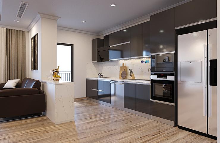 thiết kế tủ bếp theo phong cách Contemperary,