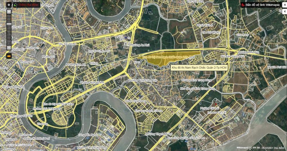 vị trí dự án Nam Rạch Chiếc