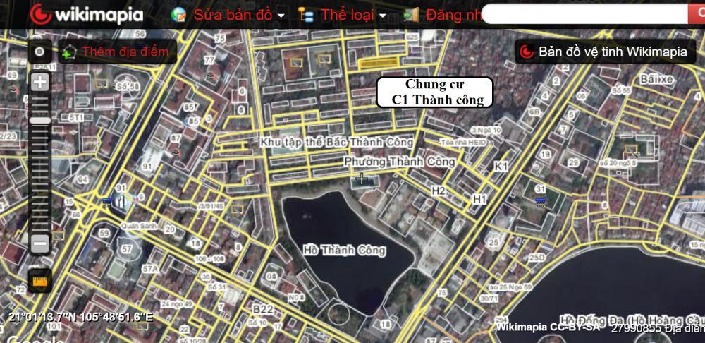 vị trí chung cư C1 Thành Công