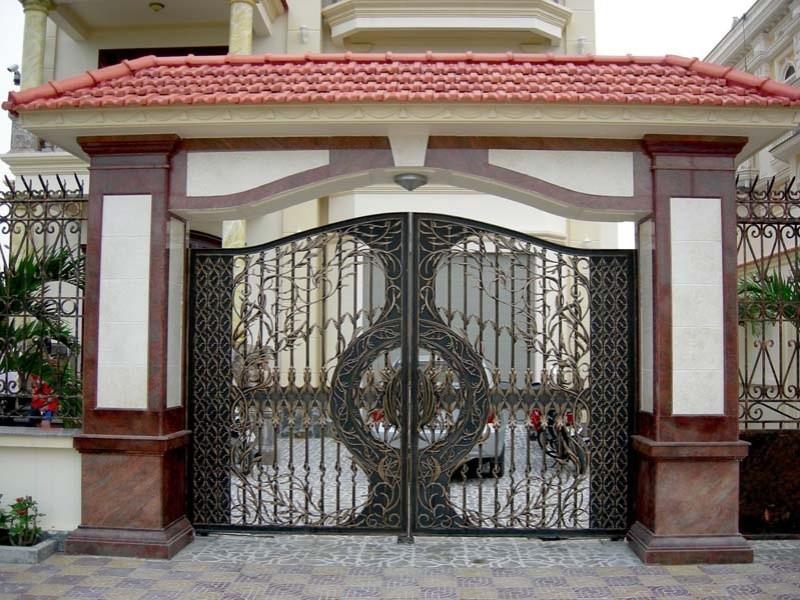 thiết kế cổng sắt