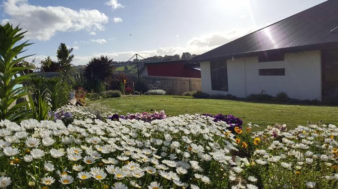 Khu vườn đẹp như mơ quanh căn nhà 2 tầng giản dị