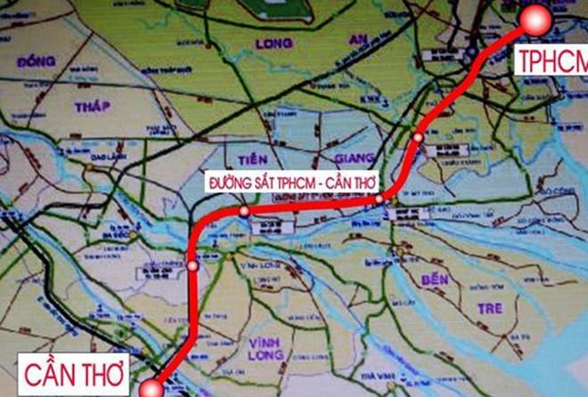 đường sắt cao tốc Tp.HCM - Cần Thơ