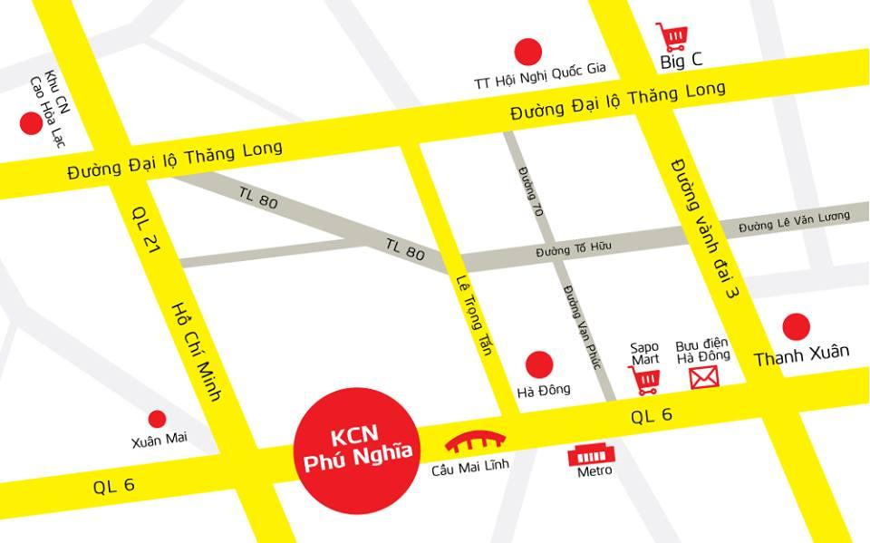 vị trí KCN Phú Nghĩa
