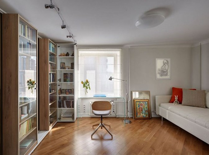 Không gian đọc sách tuyệt đẹp trong căn hộ 35m2