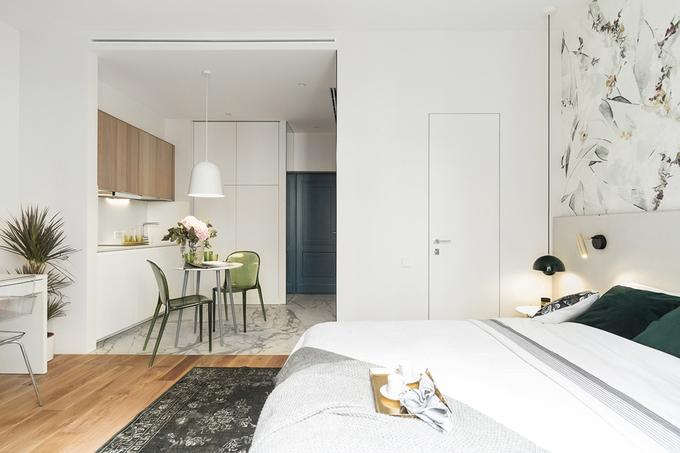 Thiết kế nội thất căn hộ 28m2 cho vợ chồng mới cưới