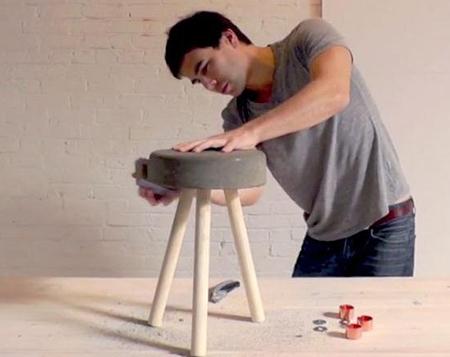 Mách bạn cách làm ghế đẹp từ gỗ thừa và xi măng