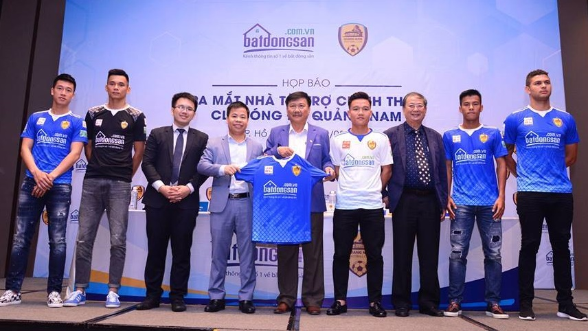 Batdongsan.com.vn là nhà tài trợ chính cho CLB bóng đá Quảng Nam 2