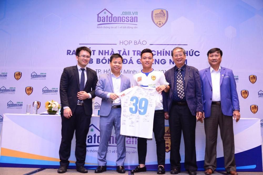 Batdongsan.com.vn là nhà tài trợ chính cho CLB bóng đá Quảng Nam 1