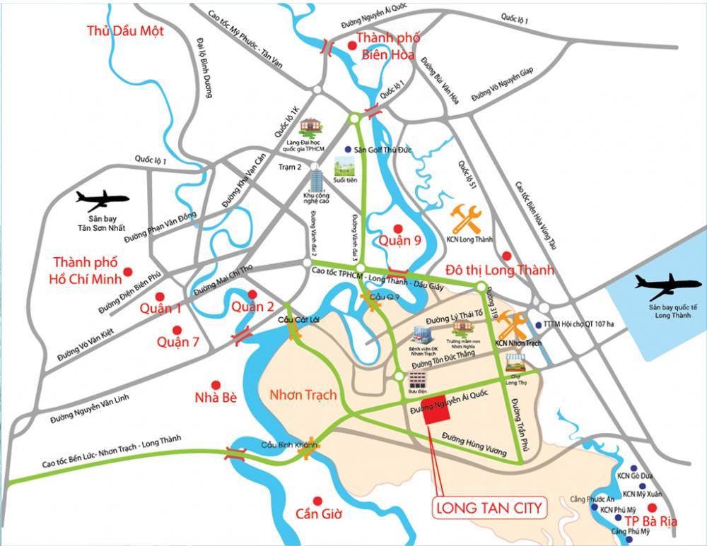 vị trí Long Tân City