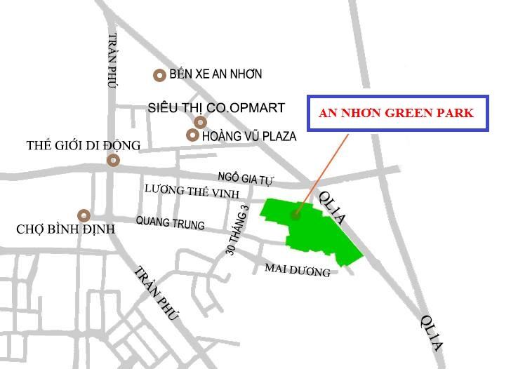 vị trí An Nhơn Green Park