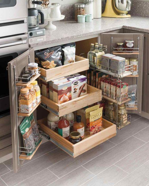 Tủ bếp nhiều ngăn kéo