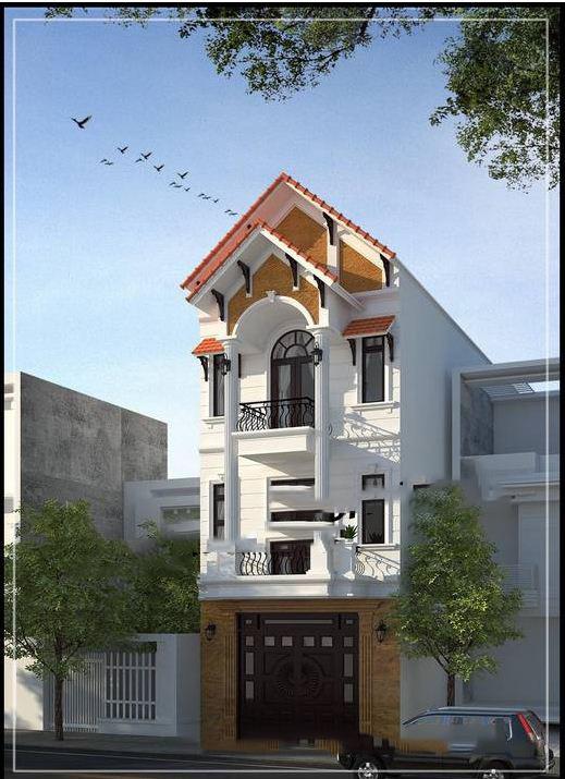 Nhà 3 tầng kiến trúc Pháp
