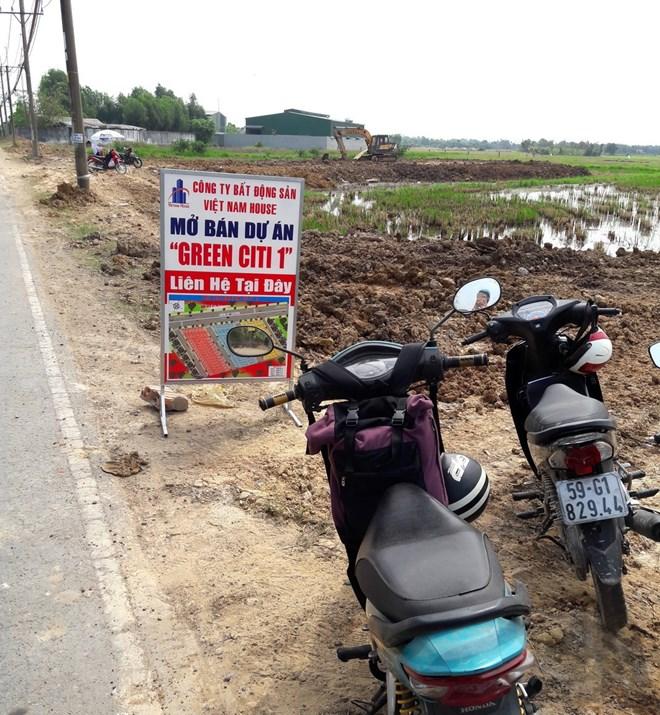 biển quảng cáo dự án đất nền