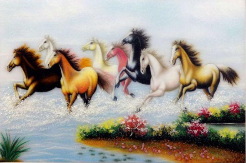tranh phong thủy vẽ ngựa