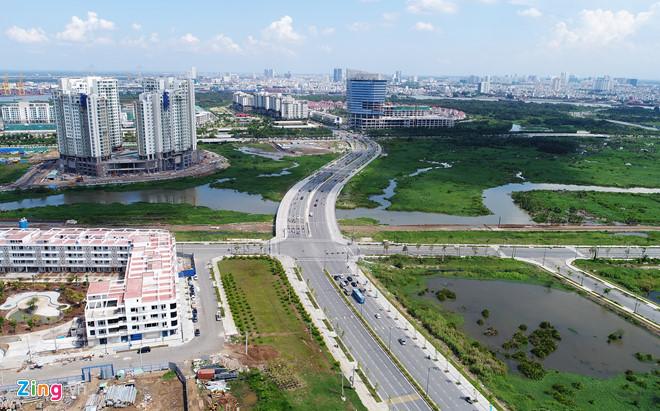4 tuyến đường tại Khu đô thị Thủ Thiêm