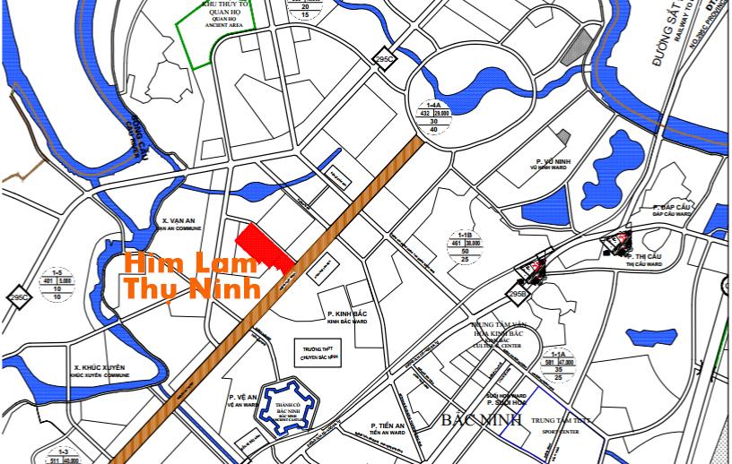 vị trí Him Lam Thụ Ninh