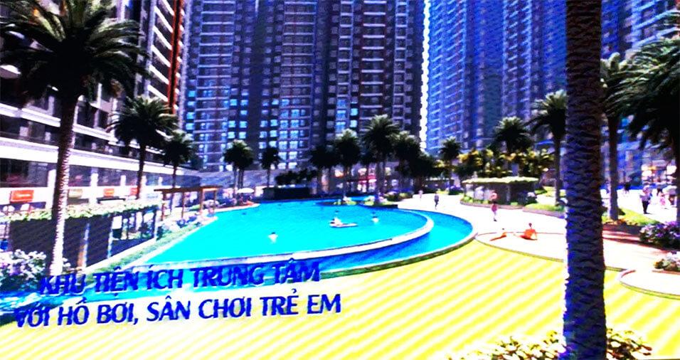 Khu hồ bơi, công viên trung tâm