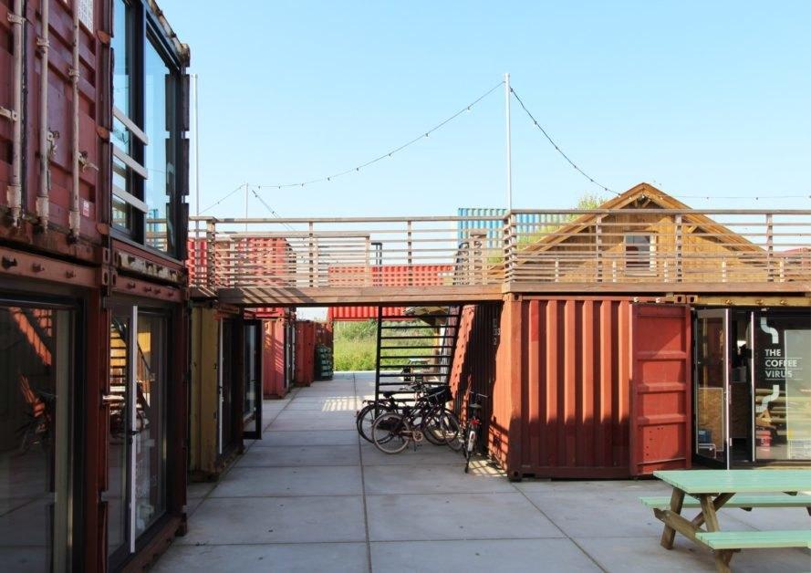 Khu văn phòng container dành cho startup ở Hà Lan