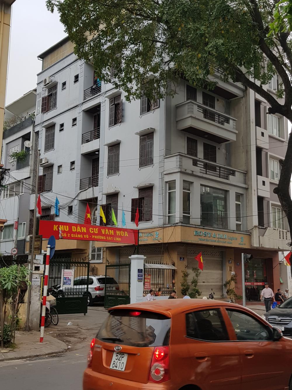 Cho thuê nhà mặt phố giảng võ, 79m2 x 6 tầng, mt 5.1m, 60tr/tháng, lhcc: 0