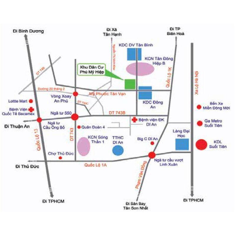 vị trí Khu nhà ở Phú Mỹ Hiệp