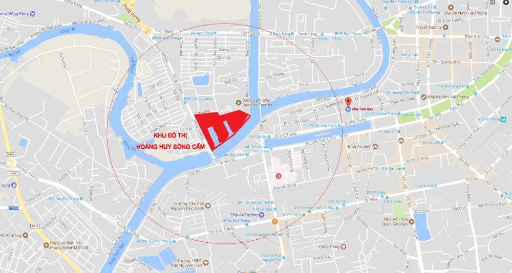 vị trí KĐT Hoàng Huy Riverside