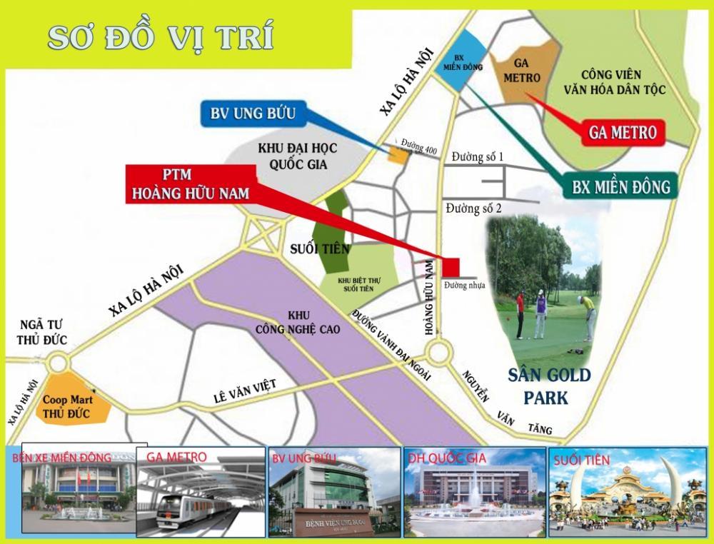 vị trí PTM Hoàng Hữu Nam