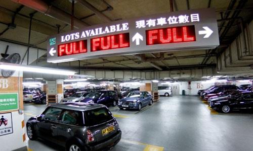 bãi đậu xe tại Hong Kong