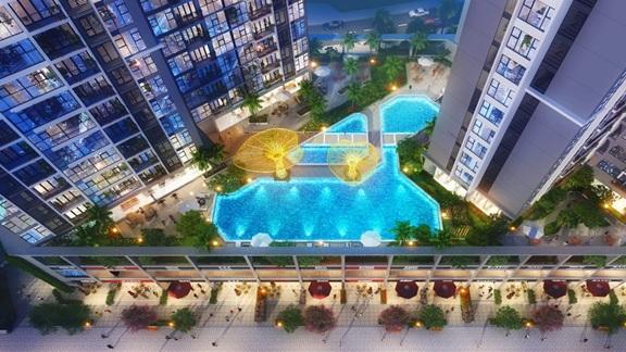 Bể bơi tại Eco-Green Saigon
