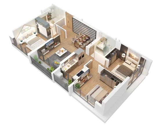 Thiết kế căn hộ Eco-Green Saigon