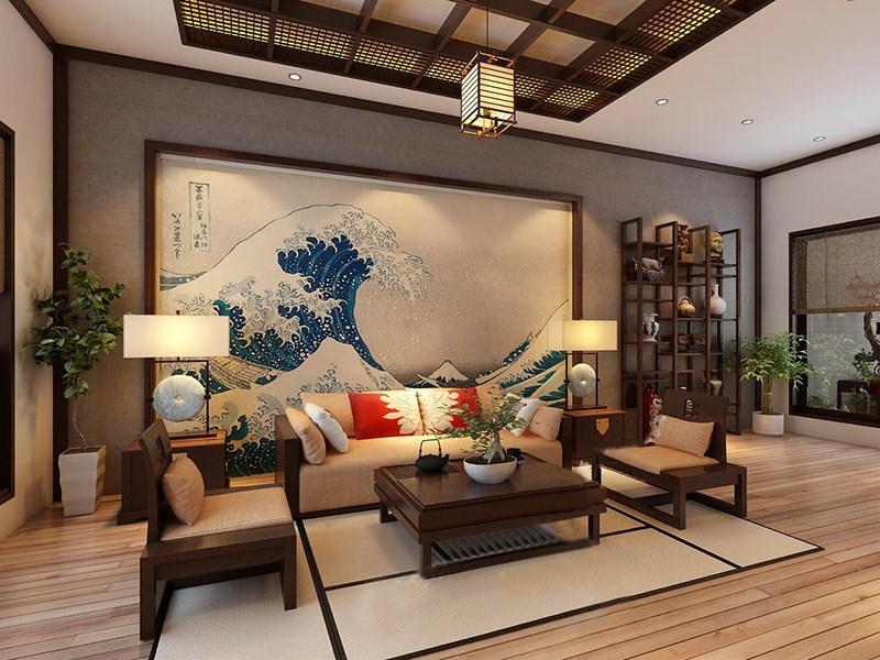phòng khách kiểu Nhật Bản