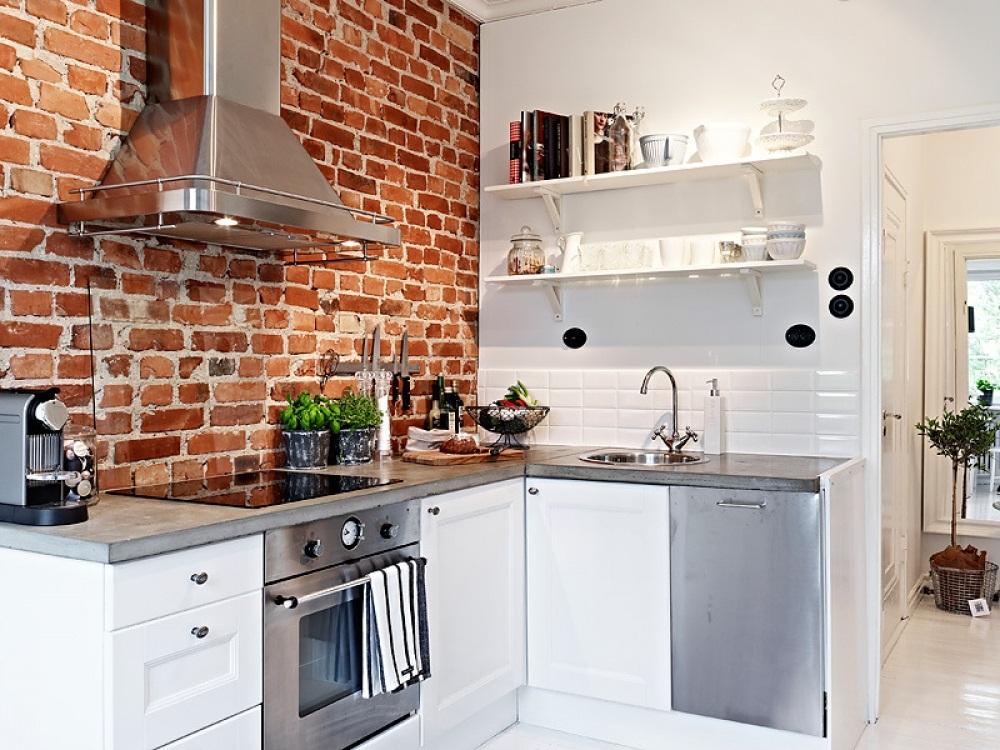 Thiết kế phòng bếp đẹp với vật liệu thô