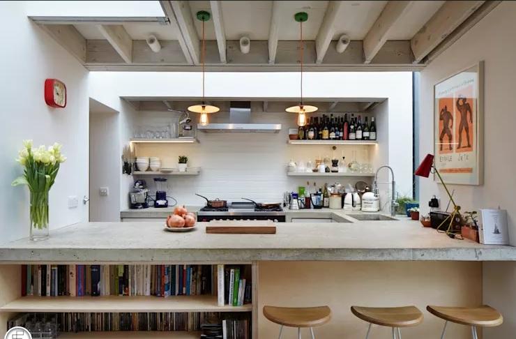 Lát lại mặt quầy bếp là cách thay đổi không gian hiệu quả nhờ tác động đến yếu tố thị giác