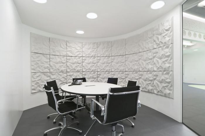 phòng họp đen - trắng