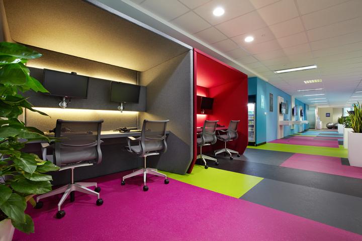 văn phòng màu sắc
