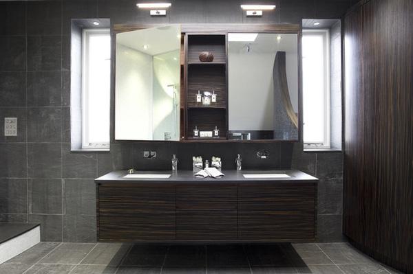 Gương trang điểm có đèn led trong phòng tắm