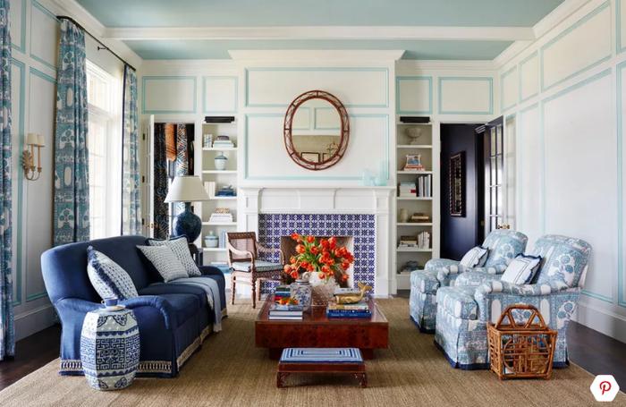 nội thất màu xanh