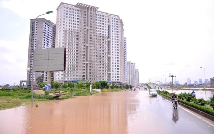 khu đô thị bị ngập