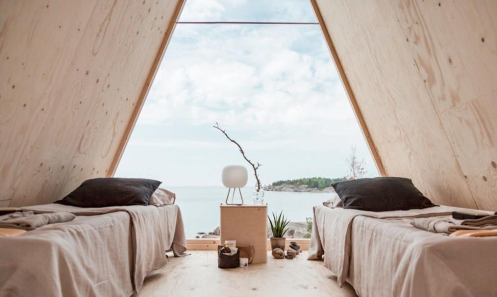Không gian bên trong cabin thích hợp cho việc du lịch, nghỉ dưỡng
