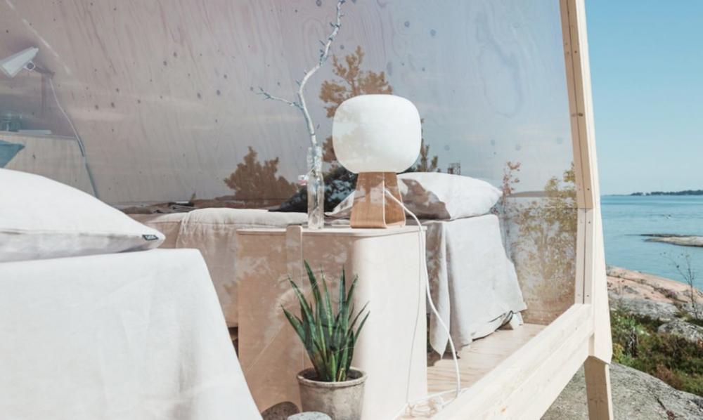 Một phần nội thất của cabin là nội thất bền vững