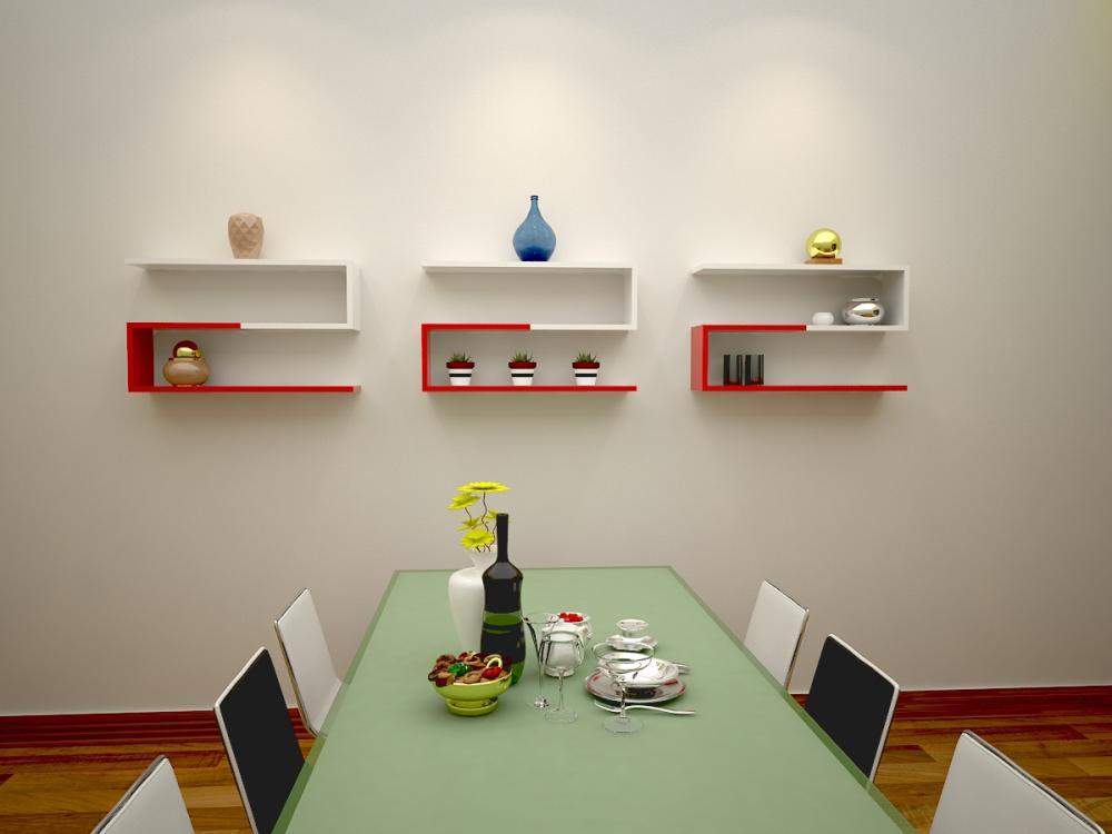 Kệ gỗ vừa có thể trữ đồ vừa có thể trang trí bức tường
