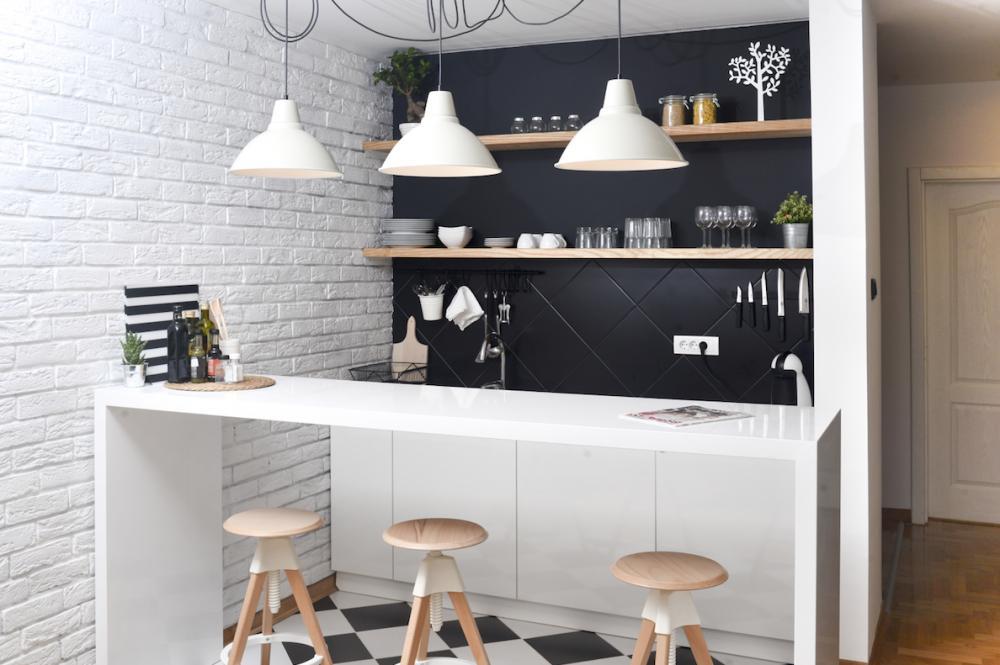 Thêm những gam màu tối dựa trên gam sáng sẵn có sẽ khiến căn hộ nổi bật và có sức sống hơn