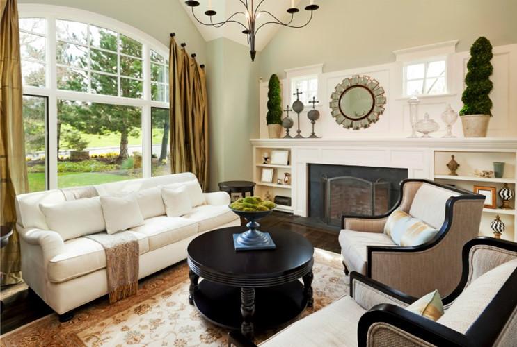 Sử dụng nội thất vừa phải, không quá nhỏ sẽ cân bằng với diện tích xung quanh