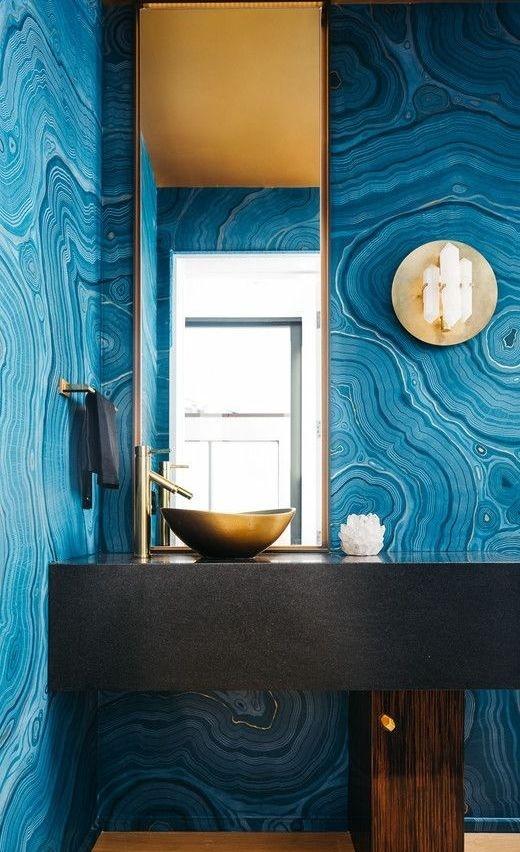 sơn tường màu xanh