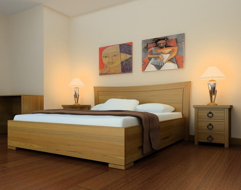 Màu sắc của giường nên hài hòa với màu của nội thất xung quanh