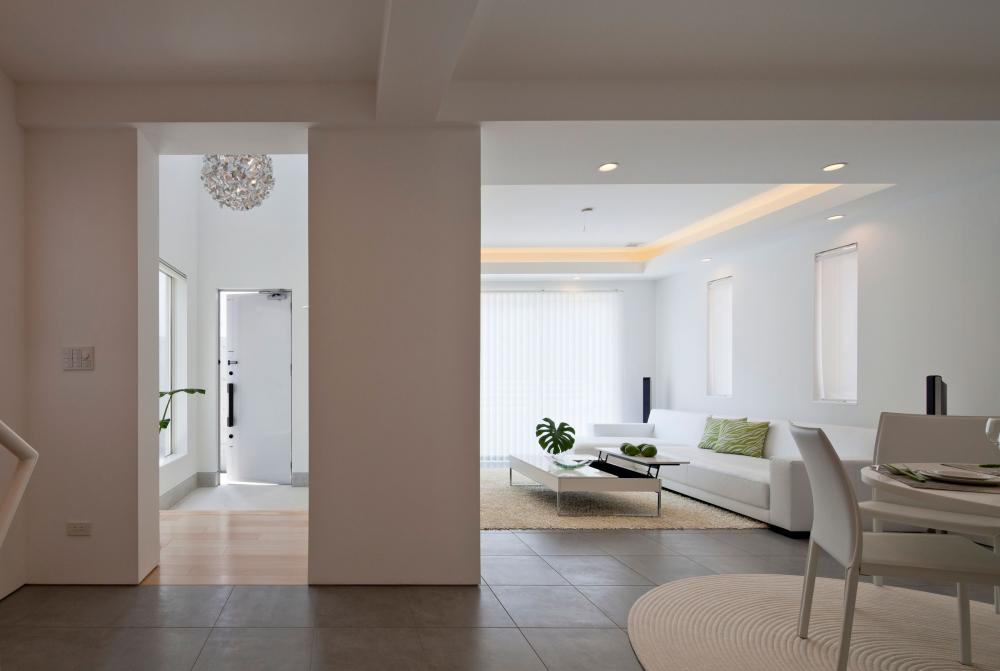 Màu trắng cũng góp phần tạo nên nét thanh tịnh trong không gian thư giãn của phong cách Zen Nhật Bản